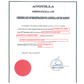 Anmeldung Design Anguilla