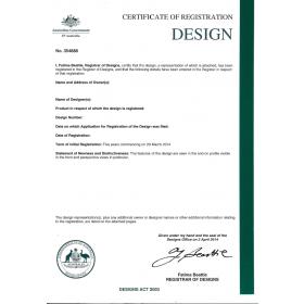 Anmeldung Design Neuseeland