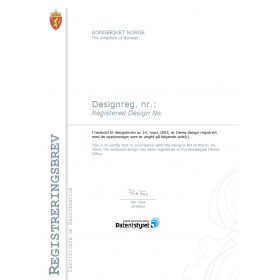 Anmeldung Design Norwegen