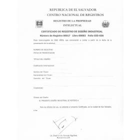 Verlängerung Design Patent El Salvador
