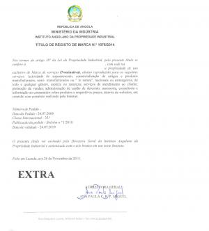 Markenanmeldung Angola