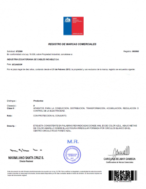Anmeldung Design Chile