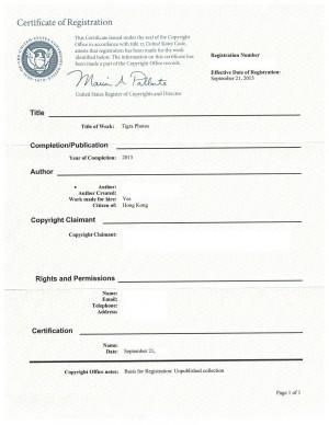 Copyright Registration USA