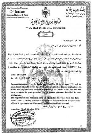 Markenanmeldung Jordanien