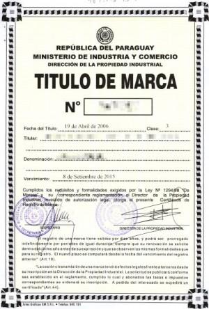 Anmeldung Design in Paraguay