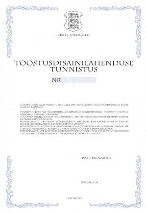 Anmeldung Geschmacksmuster Estland