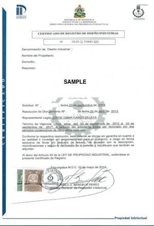 Änderung Markeninhaber (Rechtsnachfolge) Honduras