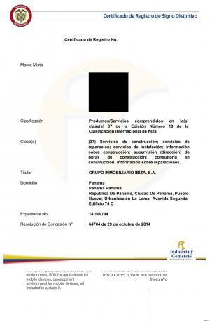 Markenanmeldung Kolumbien