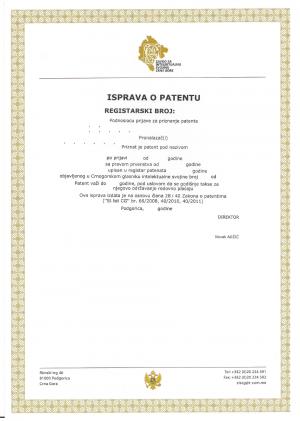 Anmeldung Design Montenegro