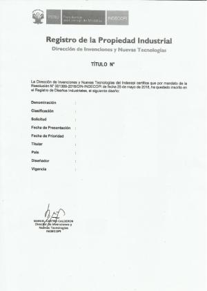 Gebrauchsmuster Anmeldung Peru