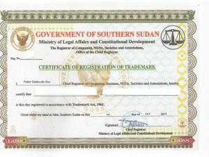 Markenanmeldung Sudan