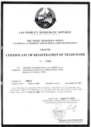 Markenanmeldung Laos