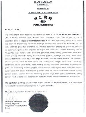 Markenanmeldung Belize