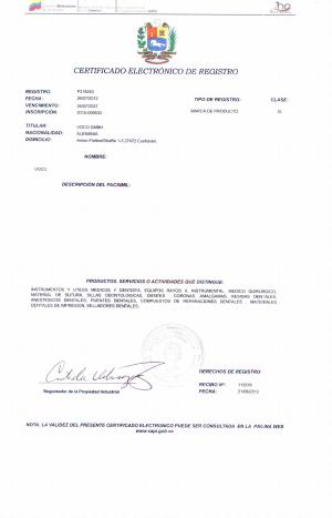 Änderung Markeninhaber (Rechtsnachfolge) Venezuela