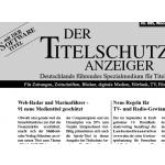 Titelschutzanzeige Deutschland